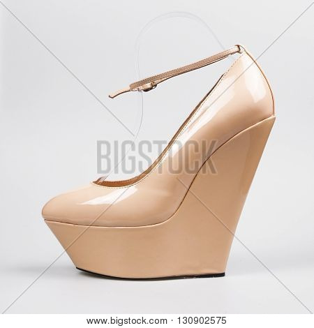 Womens High Heels Isolated On White Background
