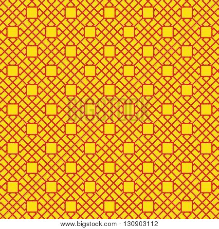 Chinese New Year yellow red seamless pattern. Print colors used. The pattern is to be found in the swatches panel