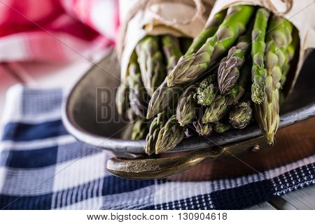 Asparagus. Raw asparagus. Fresh Asparagus.Green Asparagus. Tied asparagus in other positions.