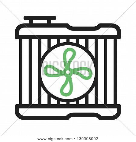 Car, fan, engine icon vector image. Can also be used for car servicing. Suitable for use on web apps, mobile apps and print media.
