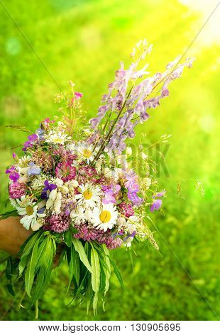 Wild Flowers In A Bouqet