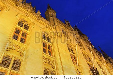 Provincial Hof in Bruges in Belgium in Europe