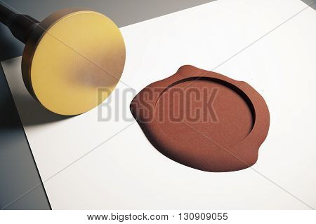 Golden Stamper And Seal