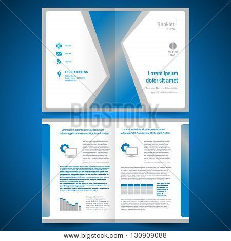 business booklet catalog brochure folder abstract geometric