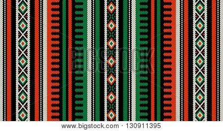A Orange And Green Theme Arabian Sadu Weaving Middle Eastern Traditional Rug Texture