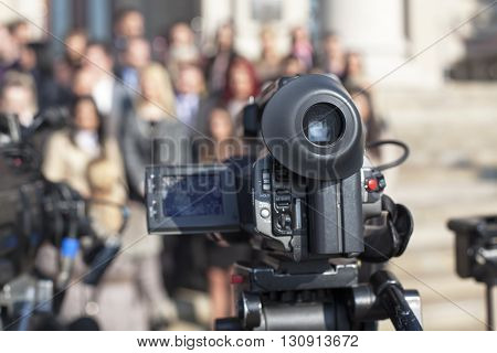 Filming an event with a video camera