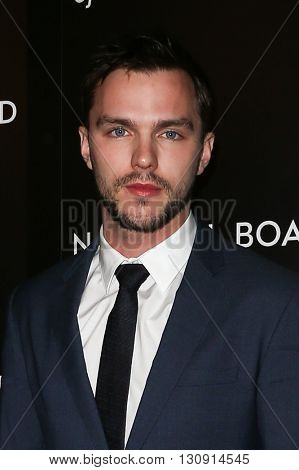 NEW YORK-JAN 5: Actor Nicholas Hoult attends the 2015 National Board of Review Gala at Cipriani 42nd Street on January 5, 2016 in New York City.