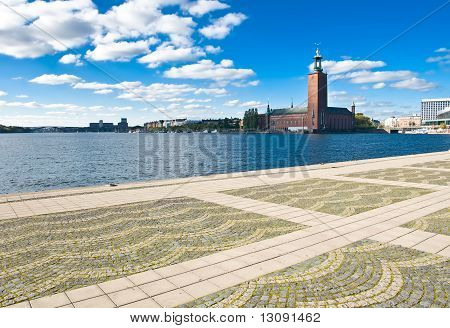 Stockholm City Hall And Quayside