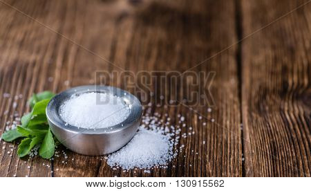 Portion Of Stevia Granules (selective Focus)