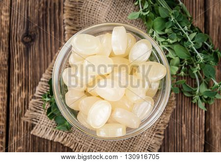 Menthol Candies On Wooden Background