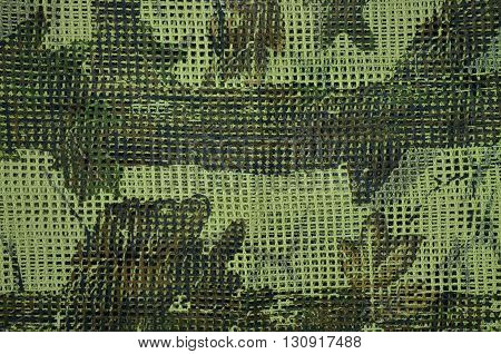 Mesh fabric pattern used in military and natural forests.