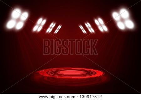 Abstract red exhibition background for texts or products