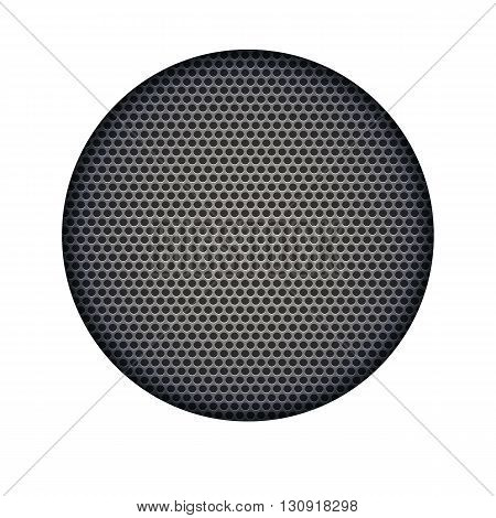 Background with sound speakers dynamics metal mesh.  Vector Illustration. Great background for advertising and design. Speaker dynamic black vector grille template