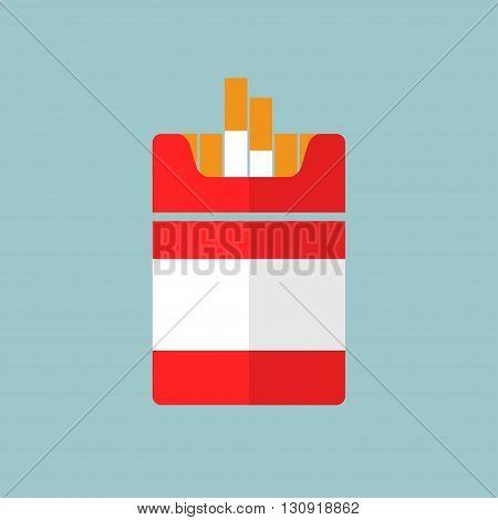 Flat Cigarettes icon. Vector format illustration sign