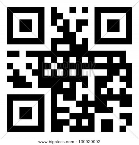 Vector sample qr code ready to scan with smart phone