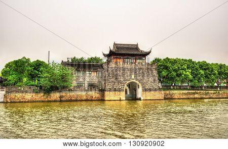 Pingmen Water Gate in Suzhou - Jiangsu, China