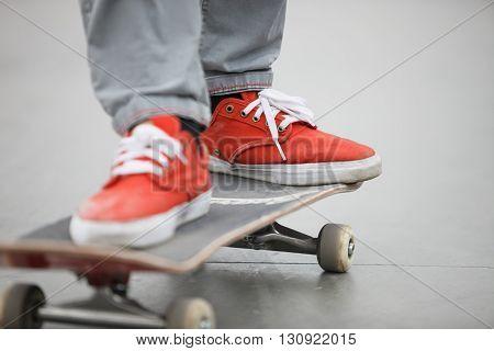 Skater Riding A Skate Board