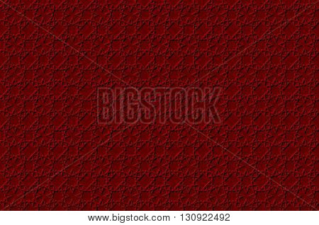 Volumetric Geometric Red And White Background With Outline Extrude Effect. Based On Islamic Ethnic O