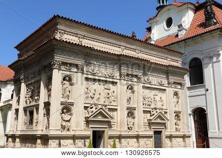 The marian pilgrimage site of Loreta in Prague