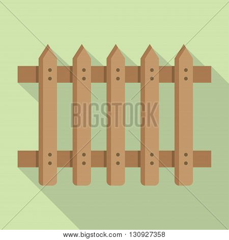 Fence vector in modern style with shadow Symbol of house and protection.