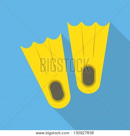 Flippers icon vector illustration. Flat icon isolated with long shadow.
