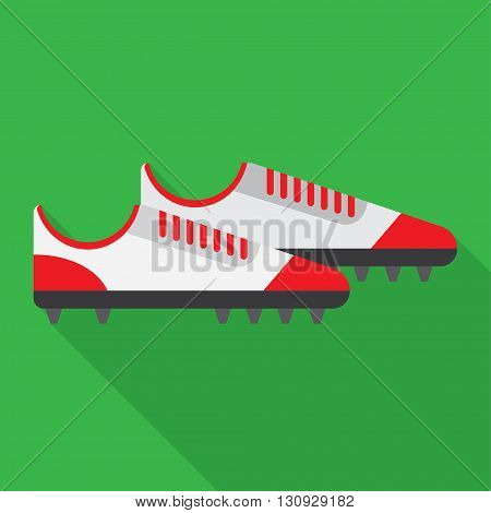 football boot flat icon. vector illustration. Flat icon isolated with long shadow.