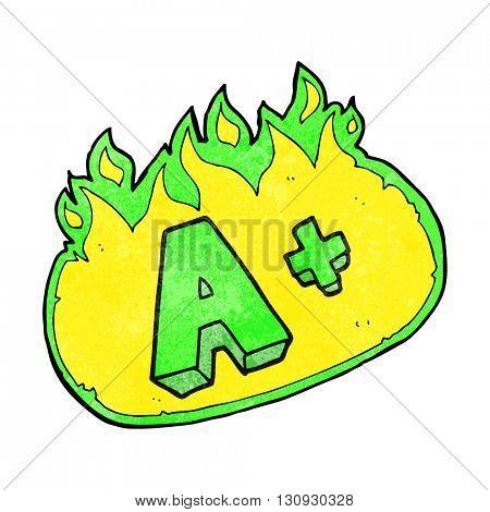 freehand textured cartoon A grade symbol