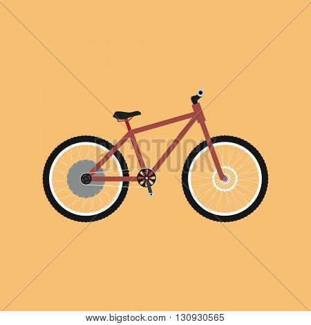 Electric bike - e-bike. Bicycle flat design. Electric bike logo. Vector illustration
