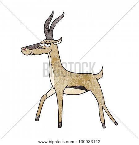 freehand textured cartoon gazelle