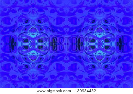 Abstract geometric seamless background. Ornate ellipses pattern in purple and turquoise blue shades with violet and black elements.