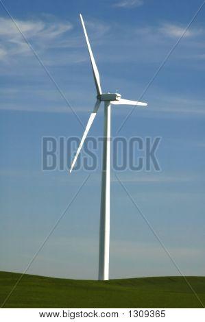 Un molino de viento