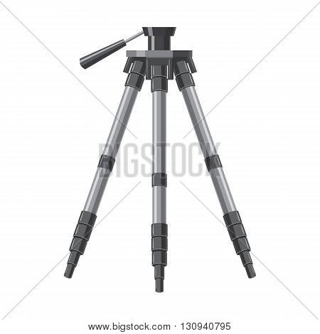 Tripod icon in cartoon style isolated on white background. Components for photo shooting symbol