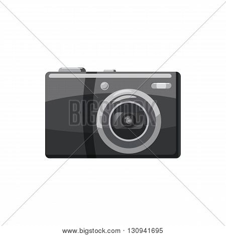 Front view camera icon in cartoon style isolated on white background. Components for  photo shooting symbol
