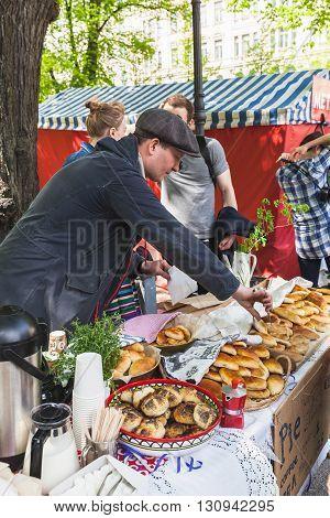 Helsinki, Traditional Street Carnival Of Food