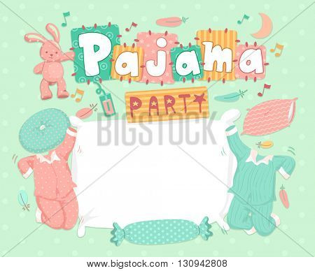 Typography Illustration for a Pajama Party