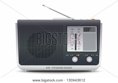 Illustration of a AM FM Band Radio
