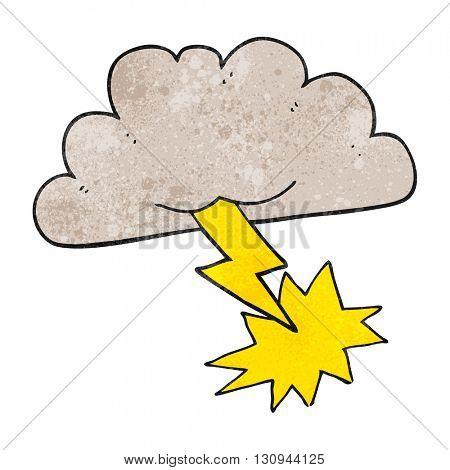 freehand textured cartoon storm cloud