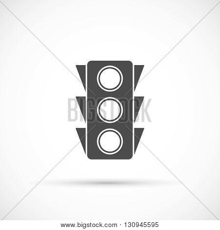 Traffic light icon. Navigation road vector illustration