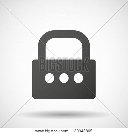 Isolated Lock Pad Icon With  An Ellipsis Orthographic Sign