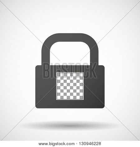 Isolated Lock Pad Icon With  A Chess Board