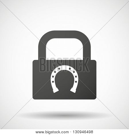 Isolated Lock Pad Icon With  A Horseshoe Sign
