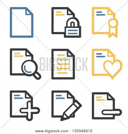 Document web icons