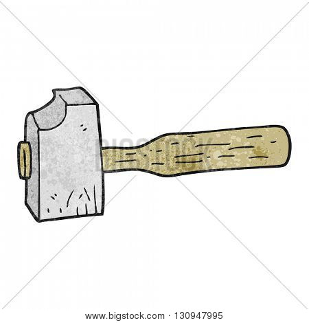 freehand textured cartoon mallet