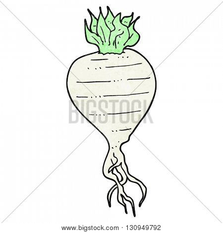 freehand textured cartoon turnip