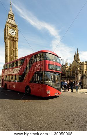 Red Bus And House Of Parliament