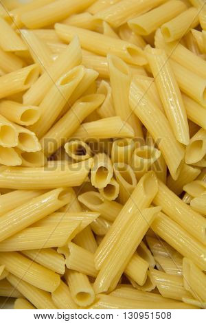 A Yellowi pasta macaroni noodles meal background