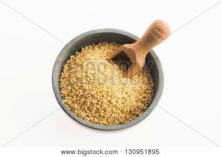 Millet Groats On White