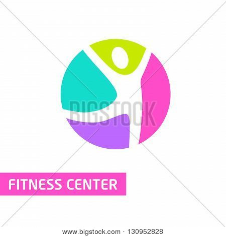 Template Logo For Fitness Center, Wellness Center.