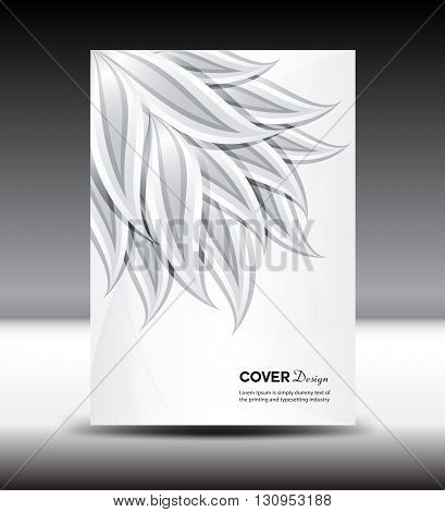 White Cover design template vector brochure Cover design vector illustration Cover Annual report Layout template portfolio booklet leaves