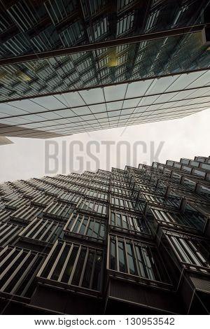 Modern Skyscraper Business Buildings In London City